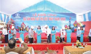 Khởi công khu đô thị dệt may Nam Định